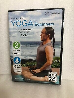 Yoga For Beginners NEW DVD Rodney Yee 2 Practices On 1 DVD Pose Training Free SH