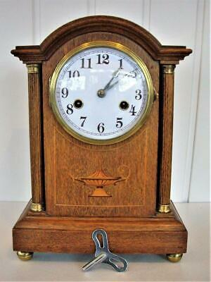 Antique Fluted Column 8-Day Mantel Clock - Restored.