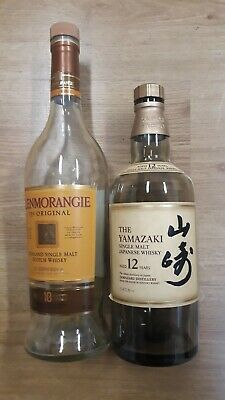 THE YAMAZAKI 12 years & Glenmorangie Whisky Bottle empty, collectable