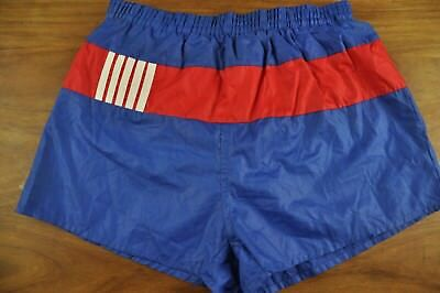 Vtg Shiny Retro High Leg Sprinter Sports Shorts Xs #2085 Glanz Ibiza