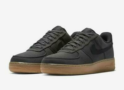 outlet store 485fd a488c Mens Nike Air Force 1 07 LV8 Style AQ0117-002 Black Black NEW Size