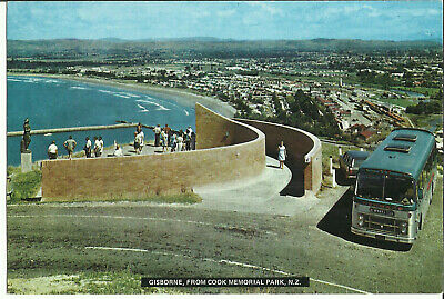 Postcard - View From Cook Memorial Park, Gisborne, New Zealand