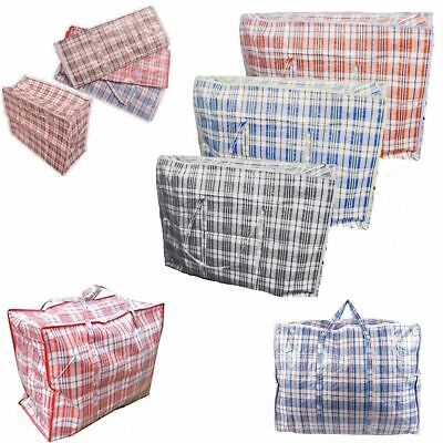 10 x Reusable Laundry Storage Bag Shopping Bags Zipped Strong Jumbo Put Clothes