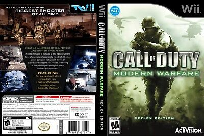 Nintendo Wii Replacement Game Case and Cover Call of Duty Modern Warfare Reflex
