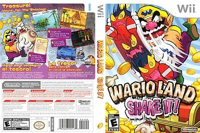 Nintendo Wii Replacement Game Case and Cover Wario Land: Shake It!