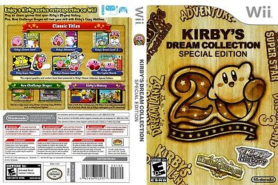 Nintendo Wii Replacement Game Case and Cover Kirby's Dream Collection: Special E