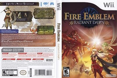 Nintendo Wii Replacement Game Case and Cover Fire Emblem: Radiant Dawn