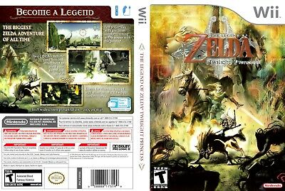 Nintendo Wii Replacement Game Case and Cover Legend of Zelda Twilight Princess,
