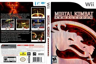 Nintendo Wii Replacement Game Case and Cover Mortal Kombat: Armageddon