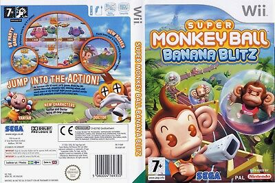 Nintendo Wii Replacement Game Case and Cover Super Monkey Ball Banana Blitz