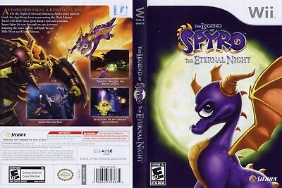 Nintendo Wii Replacement Game Case and Cover Legend of Spyro: The Eternal Night,
