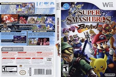 Nintendo Wii Replacement Game Case and Cover Super Smash Bros. Brawl