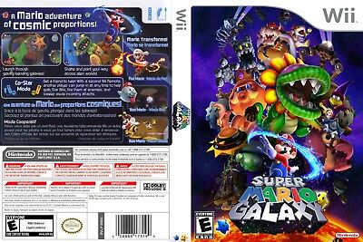 Nintendo Wii Replacement Game Case and Cover Super Mario Galaxy