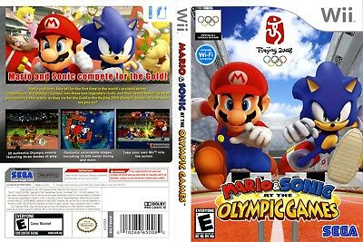 Nintendo Wii Replacement Game Case and Cover Mario & Sonic at the Olympic Games