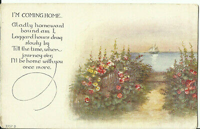 Greeting Postcard - I'm Coing Home""