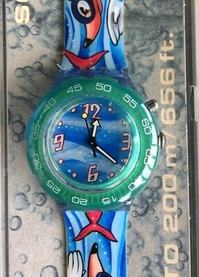 Nos New Diving Risk Sds901 Swatch Watch Watch Vintage Scuba 200 Old Stock