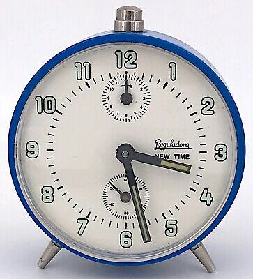 Reguladora Vintage Alarm Working Hand Manual Clock Alarm 8,5 cm 3WC