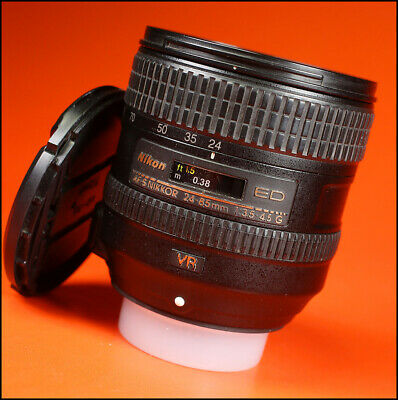 Nikon AF-S Nikkor 24-85mm f3.5-4.5 G ED VR Lens With Front & Rear Lens Caps