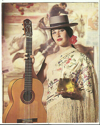 Postcard - Spanish Lady with Guitar, Advertisement for Olive Oil