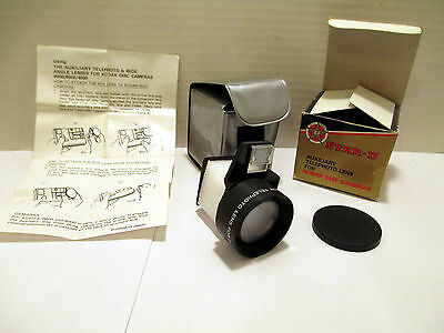 Vintage STAR-D Auxilary Telephoto Lens for Kodak Disc Cameras - NEW Open Box