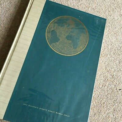 Readers Digest Atlas of the World 1962  Large Colour Plates USSR Rhodesia  inc.