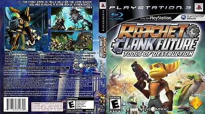 Sony Ps3 Replacement Game Case and Cover Ratchet and Clank Future: Tools of Dest