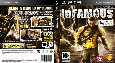 Sony Ps3 Replacement Game Case and Cover Infamous