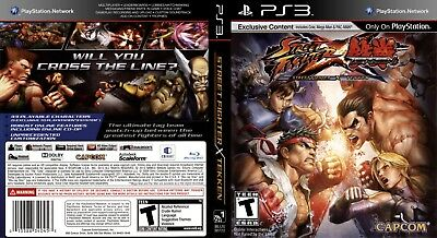 Sony Ps3 Replacement Game Case and Cover Video Game Case Street Fighter X Tekken