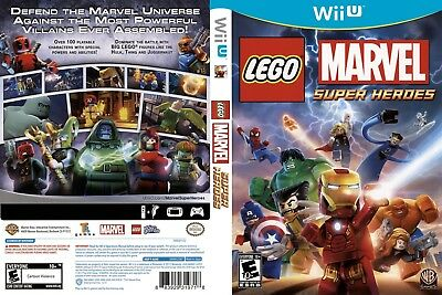 Nintendo Wii u Replacement Case and Cover Lego Marvel Super Heroes
