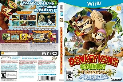 Nintendo Wii u Replacement Case and Cover Donkey Kong Country: Tropical Freeze