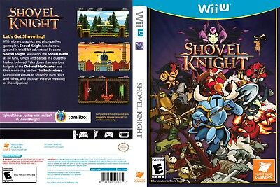 Nintendo Wii u Replacement Case and Cover Shovel Knight