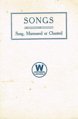 Westinghouse / Songs to be Sung Murmered or Chanted 1940