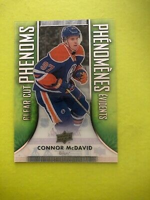 2016-17 Tim Hortons Upper Deck Clear Cut Phenoms Connor McDavid CC-6