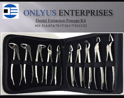 Dental Tooth Extraction Forceps For Upper & Lower Molars Dentist Surgery Tools