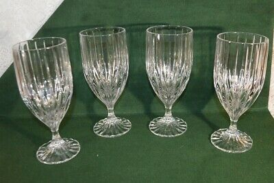Four Mikasa Crystal Park Lane Ice Tea Goblets