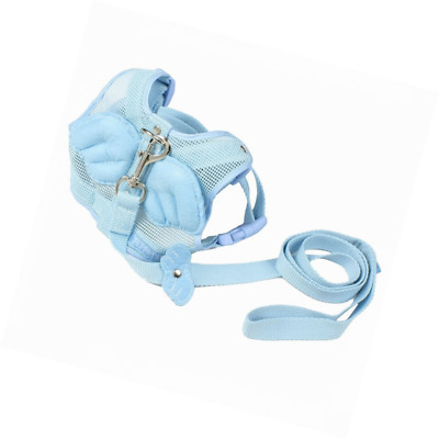 Sourcingmap Nylon Angle Wing Decor Pet Dog Harness Leash, Large, Sky Blue