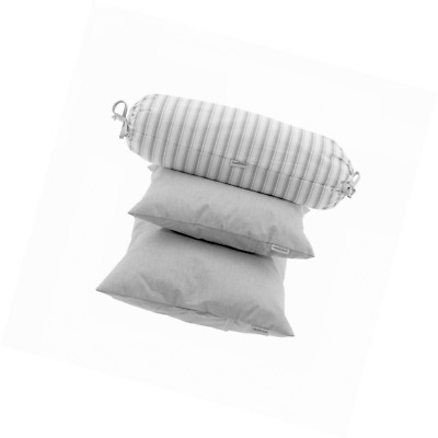 Cambrass Pillow, Denim Grey, Pack of 3