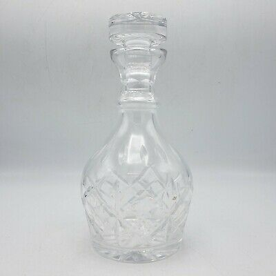 """Vintage Waterford Decanter with Stopper ~ 9.5"""" Tall"""