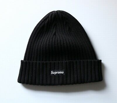 2e4793cc SUPREME OVERDYED BEANIE Black Ribbed Hat Logo - $69.00 | PicClick