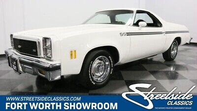 1976 El Camino SS classic vintage elco matching numbers 400 v8 auto air white