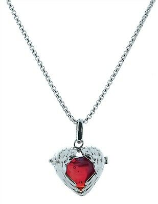 Victorian Trading Co Angelic Red Heart Angel Wings Perfume Necklace