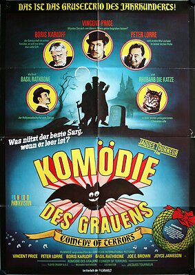 Ruhe Sanft GmbH Filmposter A1 Comedy of Terrors Vincent Price, Lorre, Karloff
