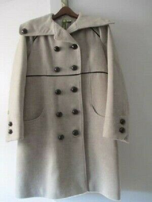 4c23f6f37c6a Ladies SOIA & KYO Wool Blend Light Cream Colored Double Breasted Coat Sz  Medium
