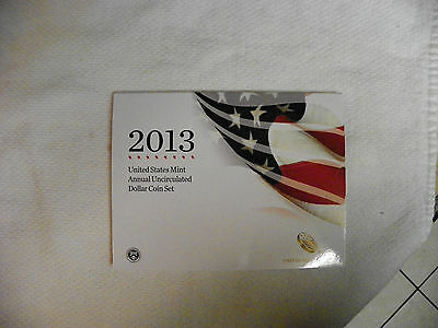 2013 U S Mint Annual Uncirculated Dollar Coin Set (XA5) w/American Silver Eagle