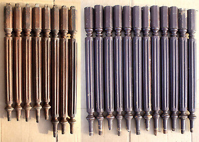 20 Antique Vintage Walnut Wood Wooden Staircase Stair Spindle Post Rod Baluster