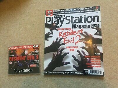 Issue 31 Official UK Playstation Magazine April 1998 Resident Evil 2 Demo PS1