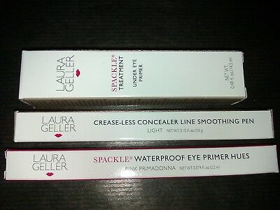 Laura Geller Lot Spackle Waterproof Eye Primer & Under Eye Primer & Concealer