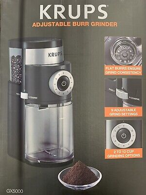 FREE SHIPPING New OEM KRUPS GX5000 Professional Electric Coffee Burr Grinder