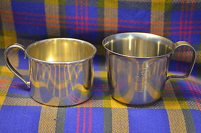 Pair of Vintage Child's Cups-LUNDLOFTE & Silverplate Oneida USA