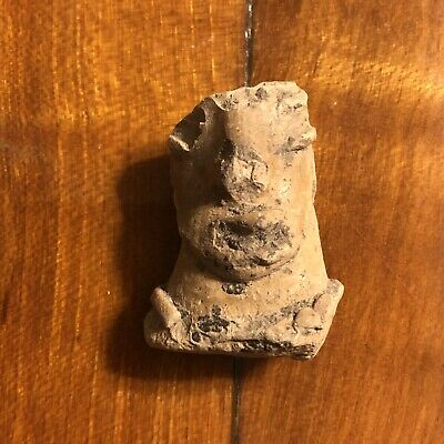 Authentic Pre-Columbian Artifact Antiquity 1200 AD Zoomorphic Face Pottery Old X